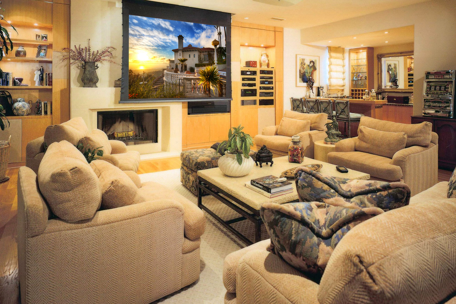 Media rooms gallery for Large family living room
